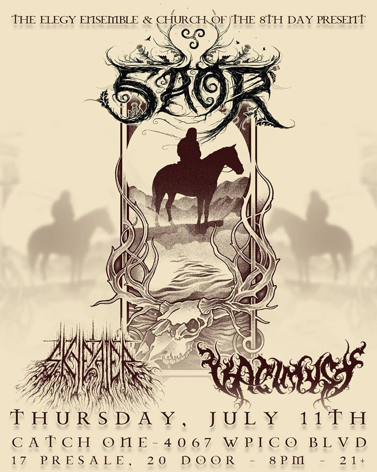 2239f5d78 Church of the 8th Day - SAOR @CATCH ONE 7/11 – Presale Ticket